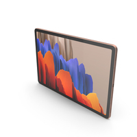 Samsung Galaxy Tab S7 Bronze PNG & PSD Images