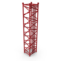Crane D Intermediate Section 12m Red PNG & PSD Images