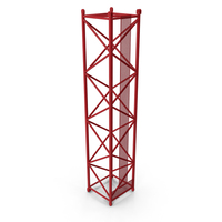 Crane L Intermediate Section 12m Red PNG & PSD Images