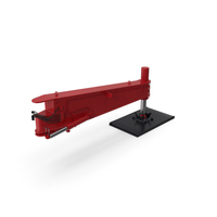 Crane Outrigger Large Red PNG & PSD Images