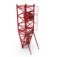 Crane S Pivot Section 10m Red PNG & PSD Images