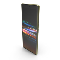 Sony Xperia 10 Plus Gold PNG & PSD Images