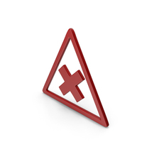 Symbol Road Sign with Cross Red PNG & PSD Images