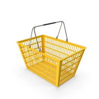 Yellow Shopping Basket PNG & PSD Images