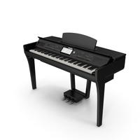 Professional Digital Piano Black PNG & PSD Images