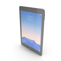 Apple iPad Air 2 Space Gray PNG & PSD Images