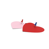 Two Heart Shaped Notes with Pins PNG & PSD Images