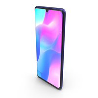 Xiaomi Mi Note 10 Lite Nebula Purple PNG & PSD Images