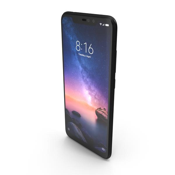 Xiaomi Redmi Note 6 Pro Black PNG & PSD Images