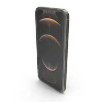Apple iPhone 12 Pro Max Matte Gold PNG & PSD Images