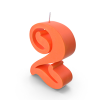 Birthday Candle Number 2 No Light PNG & PSD Images