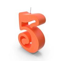 Birthday Candle Number 5 PNG & PSD Images