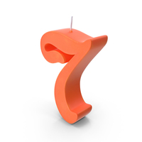 Candle Number 7 PNG & PSD Images