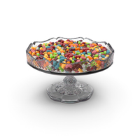 Fancy Crystal Bowl With Jelly Beans PNG & PSD Images