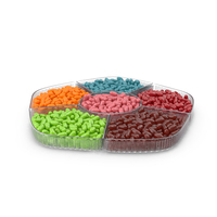 Compartment Bowl With Jelly Beans PNG & PSD Images