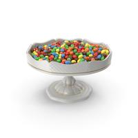 Fancy Porcelain Bowl With Peanut M&M's PNG & PSD Images