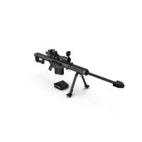 Sniper Rifle Barrett M82 PNG & PSD Images