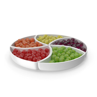 Compartment Bowl With Spherical Hard Candy PNG & PSD Images