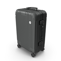 Travel Suitcase Rimowa Original Cabin Black PNG & PSD Images