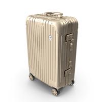 Travel Suitcase Rimowa Original Cabin Titanium PNG & PSD Images