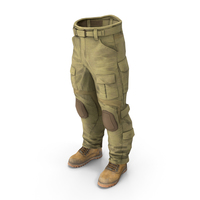 Combat Pant AC Coyote & Boots PNG & PSD Images