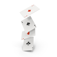 Set Of 4 Fly Playing Cards PNG & PSD Images