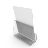White Desk Paper Banner with Stand PNG & PSD Images
