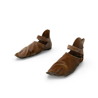 Medieval Leather Shoes PNG & PSD Images