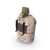 1QT Military Canteen (Desert) PNG & PSD Images