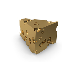Cheese Piece Golden PNG & PSD Images