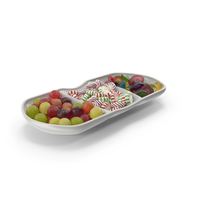 Compartment Bowl with Mixed Hard Candy PNG & PSD Images