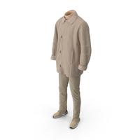 Mens Boots Pants Coat Pullover Beige PNG & PSD Images