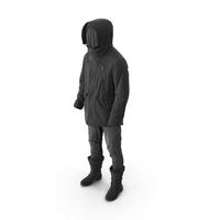 Mens Pants Boots Pullover Coat Black PNG & PSD Images