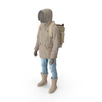 Men's Pants Boots Pullover Coat Gloves Backpack Beige PNG & PSD Images