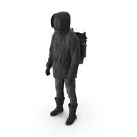 Mens Pants Boots Pullover Coat Gloves Backpack Black PNG & PSD Images