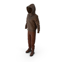 Women's Boots Pants Down Jacket Pullover Brown PNG & PSD Images