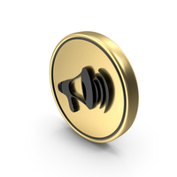 Volume Sound Speak Logo Coin Icon PNG & PSD Images