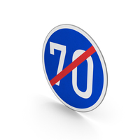 Road Sign End Minimum Speed Limit 70 PNG & PSD Images