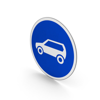 Road Sign Motor Vehicle Only PNG & PSD Images