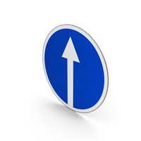 Road Sign Proceed Straight Ahead Only PNG & PSD Images