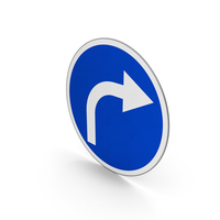 Road Sign Turn Right Only PNG & PSD Images