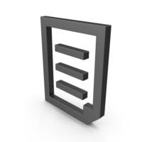 Symbol Document File Black PNG & PSD Images