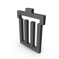 Symbol Recycle Bin Black PNG & PSD Images
