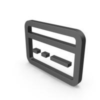 Symbol Bank Card Black PNG & PSD Images