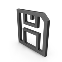 Symbol Floppy Disk Save Button Black PNG & PSD Images