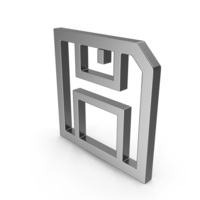 Symbol Floppy Disk Save Button Steel PNG & PSD Images