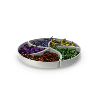 Compartment Bowl with Toffee Candy PNG & PSD Images