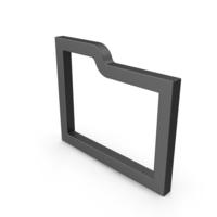 Symbol Folder Black PNG & PSD Images