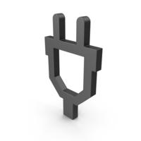 Symbol Plug Black PNG & PSD Images