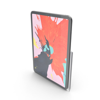 iPad Pro11 Space Gray With Pencil PNG & PSD Images